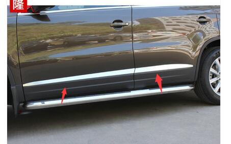 tiguan body trim chrome door side molding body side decoration moulding trim