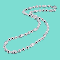 Ethnic style real silver necklace S999 sterling silver necklace bead pattern design men's jewelry 100% silver chain not fade