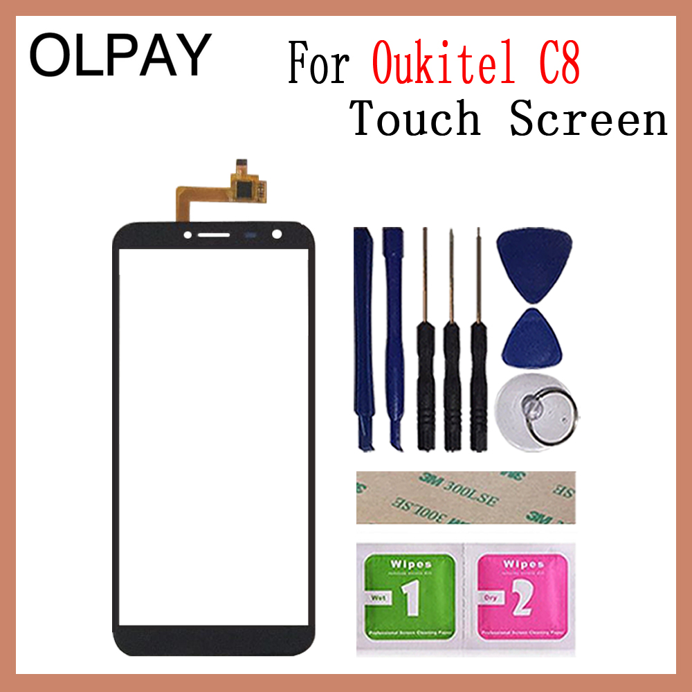 Image 5 - OLPAY 5.5'' Touch Glass Panel For Oukitel C8 Touch Screen Digitizer Glass Sensor Tools Free Adhesive+Clear Wipes-in Mobile Phone Touch Panel from Cellphones & Telecommunications