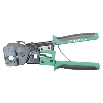 Pro'sKit CP-376D Modular Crimping Tool (200mm) Network Crimpers Crimping Pliers Wire Stripper  yousailing vh2 02h2 coaxial cable ratchet crimping pliers wire crimpers crimping tools press plier crimpers