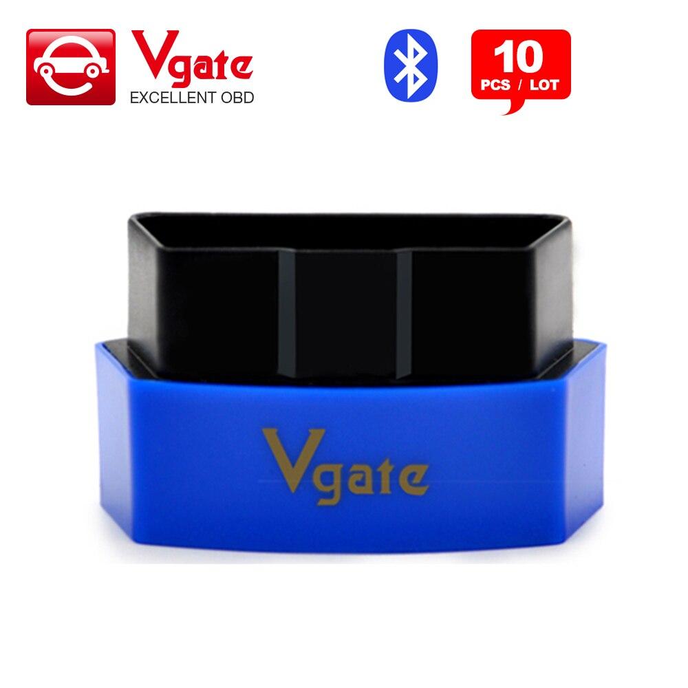 Prix pour 10 PCS/Lot Vgate iCar3 Bluetooth OBDII OBD2 ELM327 iCar3 Interface De Diagnostic Pour Android IOS PC