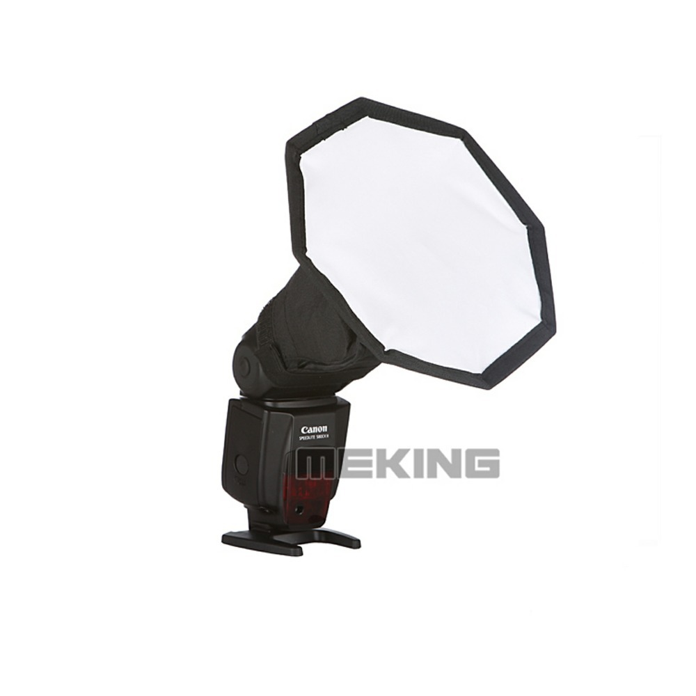 Meking 19cm 7 5in Softbox For SpeedLight Flash Speedlite octagon Soft box with Carrying Bag