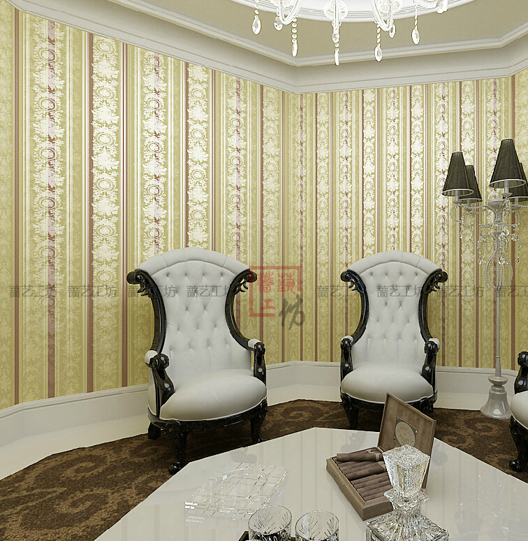 Aliexpress Com European Luxury Fl Striped Wallpaper