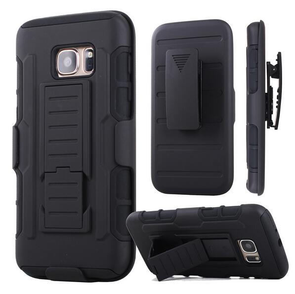 S7EDGE CASE 3 in one Shockproof Stand Hard Phone Cases for Samsung Galaxy S7 S3/S4/S5/S6/S7 edge Belt Clip stand Holster Cover