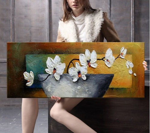 Phoenix <font><b>Decor</b></font>-Moth Orchid <font><b>Elegant</b></font> Modern Canvas Art Oil Paintings on Canvas on Canvas Art for <font><b>Home</b></font> Decorations Art Work