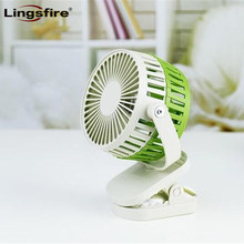 Портативный мини-вентилятор с зажимом Портативный 360 градусов вращающийся кулер USB вентилятор перезаряжаемый детская коляска вентилятор с регулируемой скоростью ветра