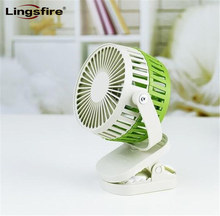 Portable Mini Clip Fan Portable 360 Degree Rotate Cooler USB Fan Rechargeable Baby Carriage Fan with Adjustable Wind Speed