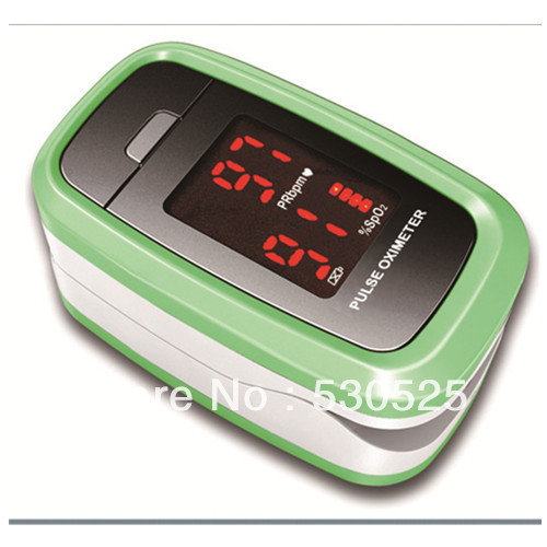 *Green* CE FDA Approved CMS50DL1 Finger SPO2 Monitor, Fingertip Pulse Oximeter Blood Oxygen Saturation Monitor, Free Shipping