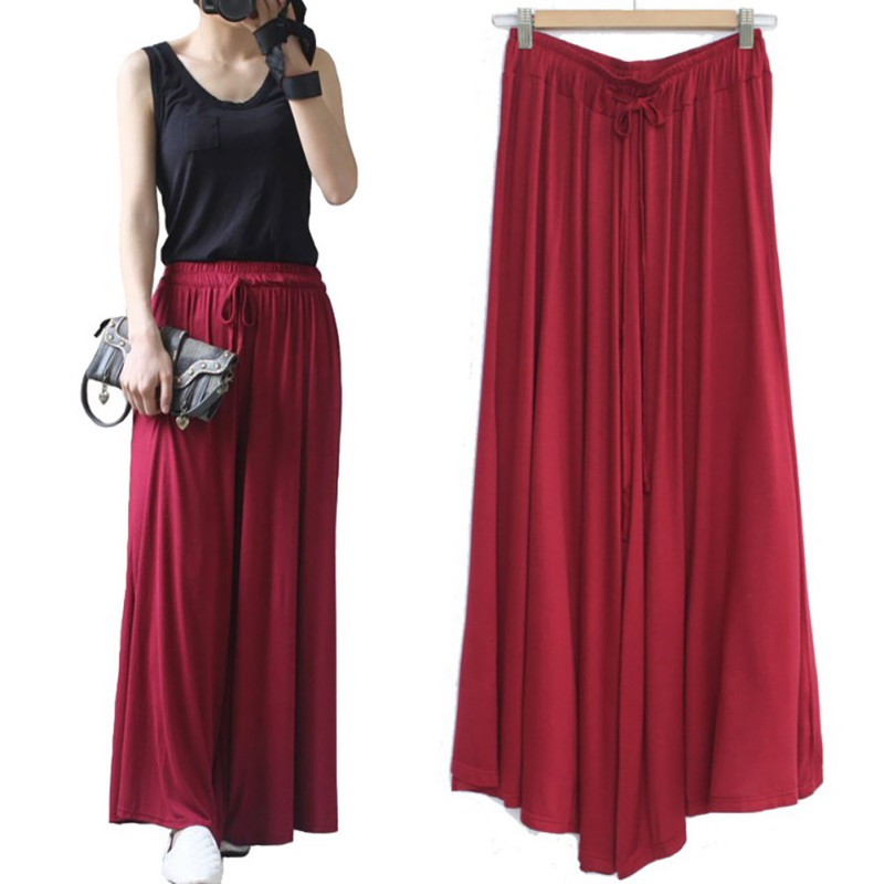 Women  Wide Leg Pants  Loose Drawstring  Casual Ankle-Length Pockets Female Trousers Summer Hipster Harem Pants Ladies Plus Size