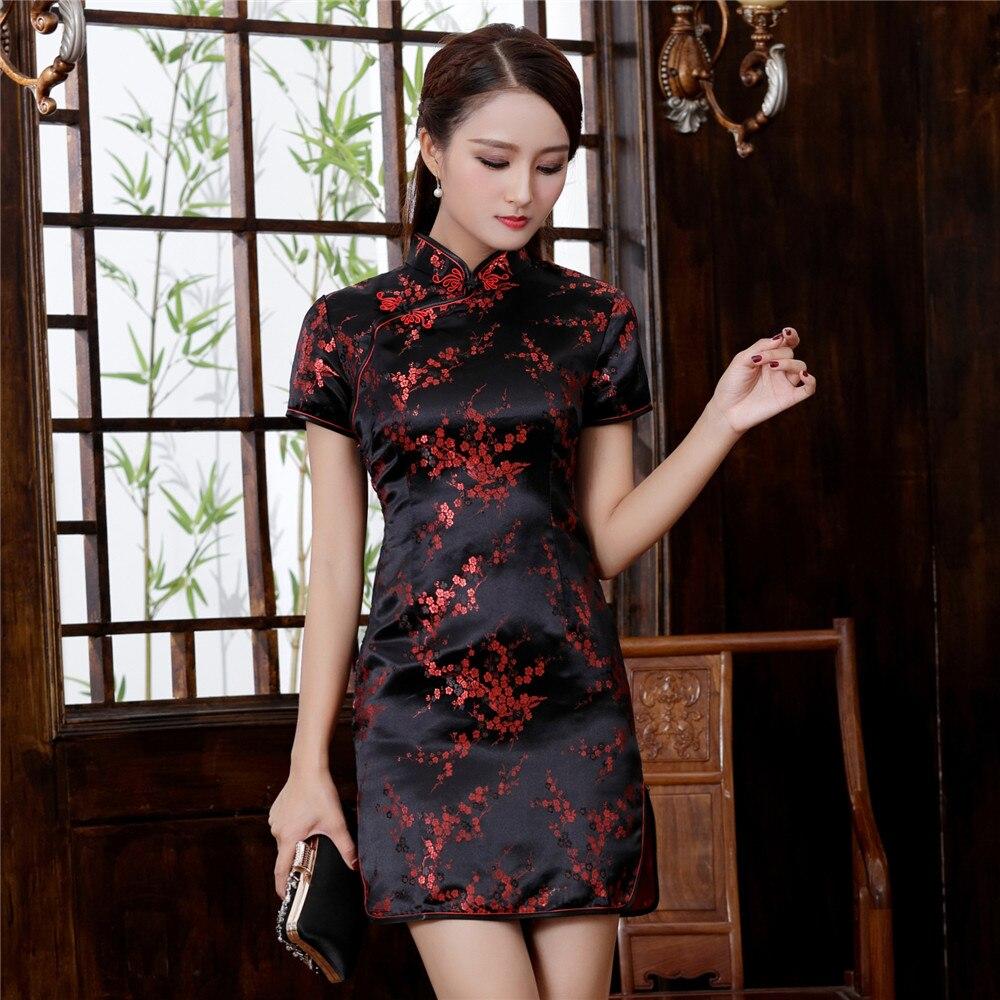 Plus Size 3XL 4XL 5XL 6XL Chinese Qipao Klassieke Vrouwen Satijn Cheongsam Oosterse Bruid Trouwjurken 2020 Nieuwe Avond Party gown 3