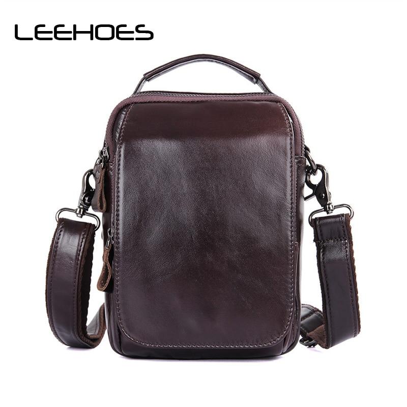 Vintage Retro Cow Leather Shoulder Bag Genuine Leather Handbag Fashion Luxury Brand Designer Flap Handbags Male Work Travel Bags цена 2017