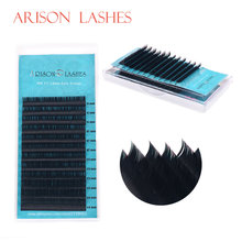 ARISON,12Rows,Faux mink individual eyelash extension, cilia lashes extension for professionals,soft mink eyelash extension(China)