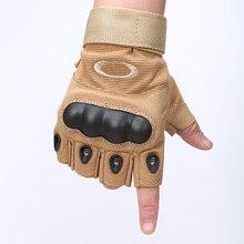 Guantes de la bicicleta guantes de moto nudillos gimnasio guantes sin dedos táctico militar medio dedo guantes luva ejército militar de asalto duro