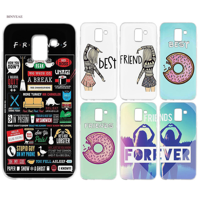 detailed look 6bbdc f153d US $1.99 38% OFF|BINYEAE Best Friend Cute Patterned BFF Silicone TPU Case  Cover For Samsung Galaxy J6 S8 S9 A6 A8 Plus J4 J8 2018 J3 J5 J7 2017-in ...