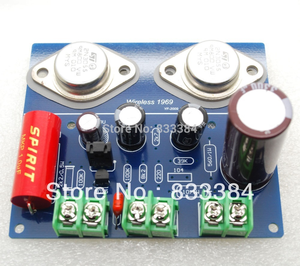 цена на Free shipping New Two channel JLH 1969 A CLASS A amplifier kit ST2N3055 MKP diy kit 2pcs