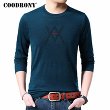 COODRONY Brand Sweater Men Autumn Winter Cashmere Wool Mens Sweaters Casual O-Neck Pullover Knitwear Shirt Pull Homme 91074