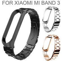 2019 Fashion Fitness Armband Rvs Luxe Wrist Strap Metal Polsband Voor Xiaomi Mi Band 3 Smartwatch Relogios #30(China)