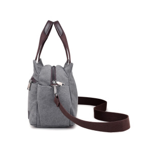 Image 3 - HOT! KVKY High Quality Canvas Bag Women Handbag Solid Zipper Design Casual Shoulder Bags for Female Crossbody Bag Messenger Bags