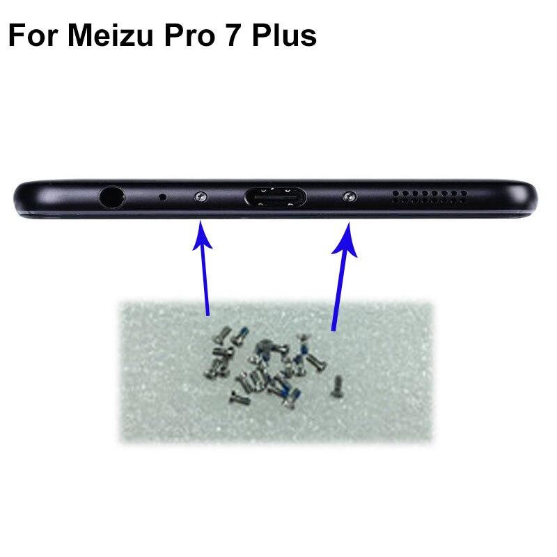 2 шт Серебряный Для Mei zu Pro7 plus Pro 7 plus Buttom Dock шурупы винт для корпуса ногтей tack ForMeizu Pro7 plus Pro 7 мобильные телефоны