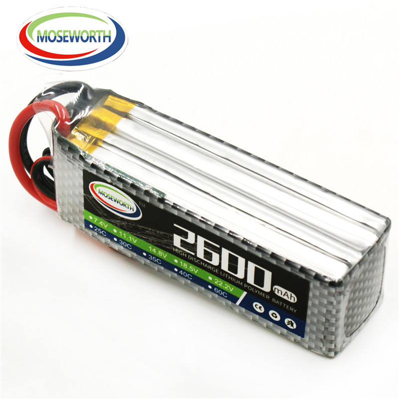 MOSEWORTH RC Lipo Battery 14.8v 4S 25C 2600mAh For RC Aircraft Helicopt Quadcopter Car Airplane Drone Li-ion Battery 4S AKKU 2pcs high quality 4s full 5400mah 14 8v 79 92wh replacement lipo battery for yuneec typhoon h drone rc quadcopter