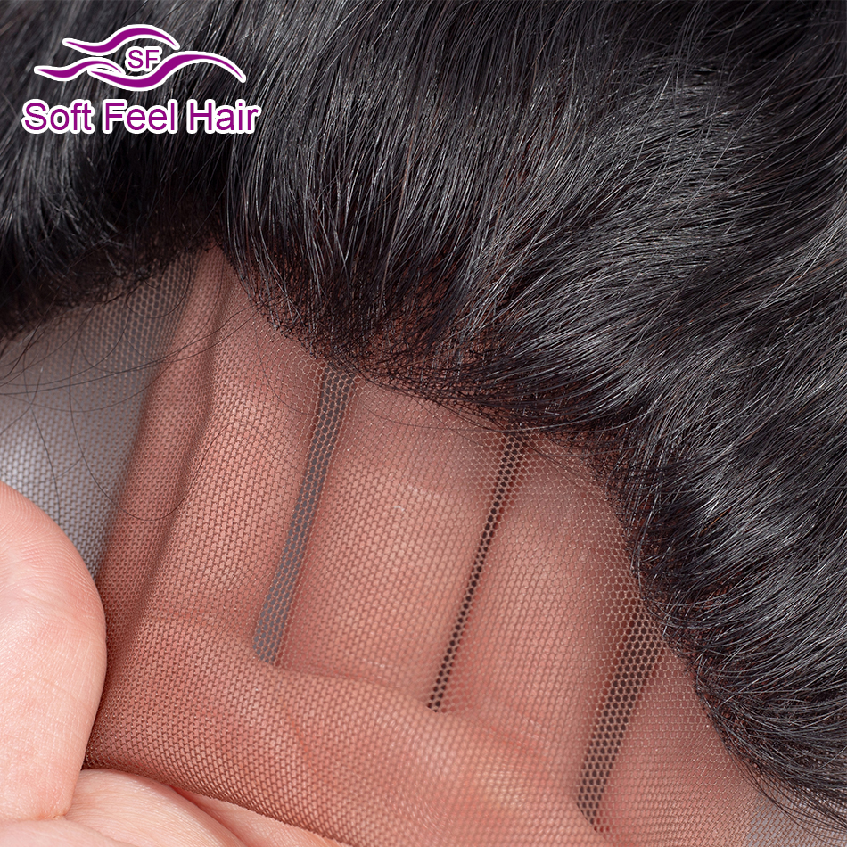 Image 5 - Soft Feel Hair Brazilian Kinky Straight Frontal 13x4 Ear To Ear Lace Frontal Closure Remy Human Hair Lace Frontal With Baby Hair-in Closures from Hair Extensions & Wigs