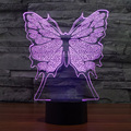Creative 7 Colors Amazing Optical Illusion Butterfly LED Desk Lamp Art Sculpture Light Produce Unique Lighting 3D Visualization