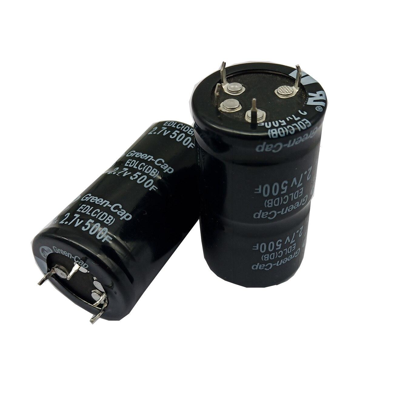 1 шт. Farad конденсатор 2,7 в 500F 35*60 мм Суперконденсатор капель автомобильный конденсатор через универсальное отверстие|Конденсаторы|   | АлиЭкспресс