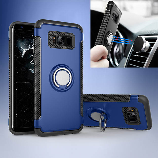Magnetic Finger Ring Bracket anti crash Case For <font><b>Samsung</b></font> Galaxy S7 Edge S8 S9 Plus J2 J3 J5 <font><b>J7</b></font> <font><b>2016</b></font> 2017 Prime Back Cover image