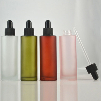 100ml Frosted Glass Dropper Bottle Matte Sprayed Bottle Essential Oil Bottle Empty Refillable Vial Cosmetic Containers Packaging