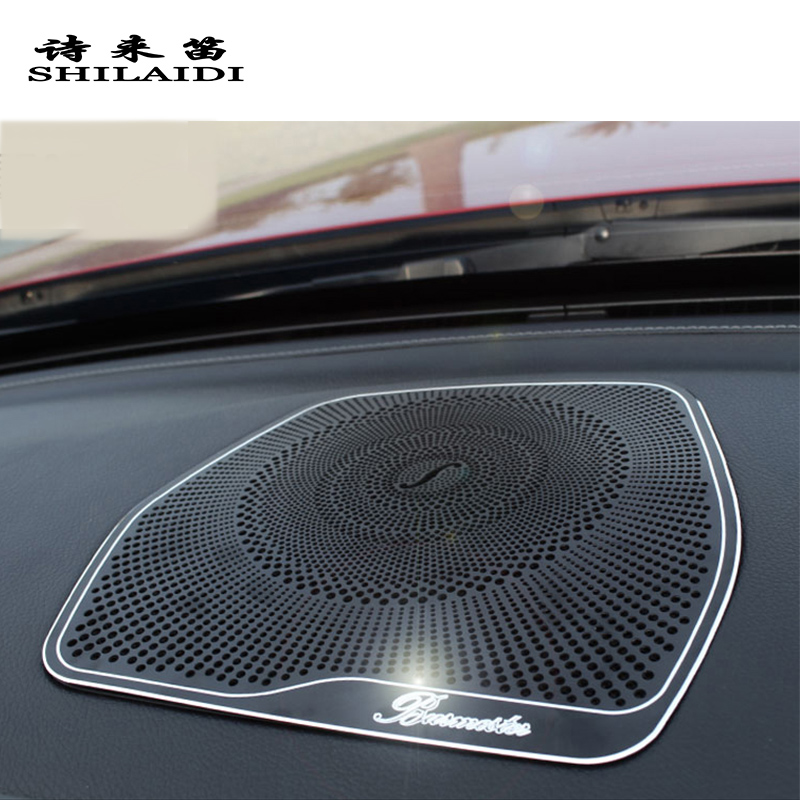 Car styling Audio Speaker For Mercedes Benz W205 X253 GLC C Class Dashboard Loudspeaker Cover Stickers Trim Auto Accessories LHD