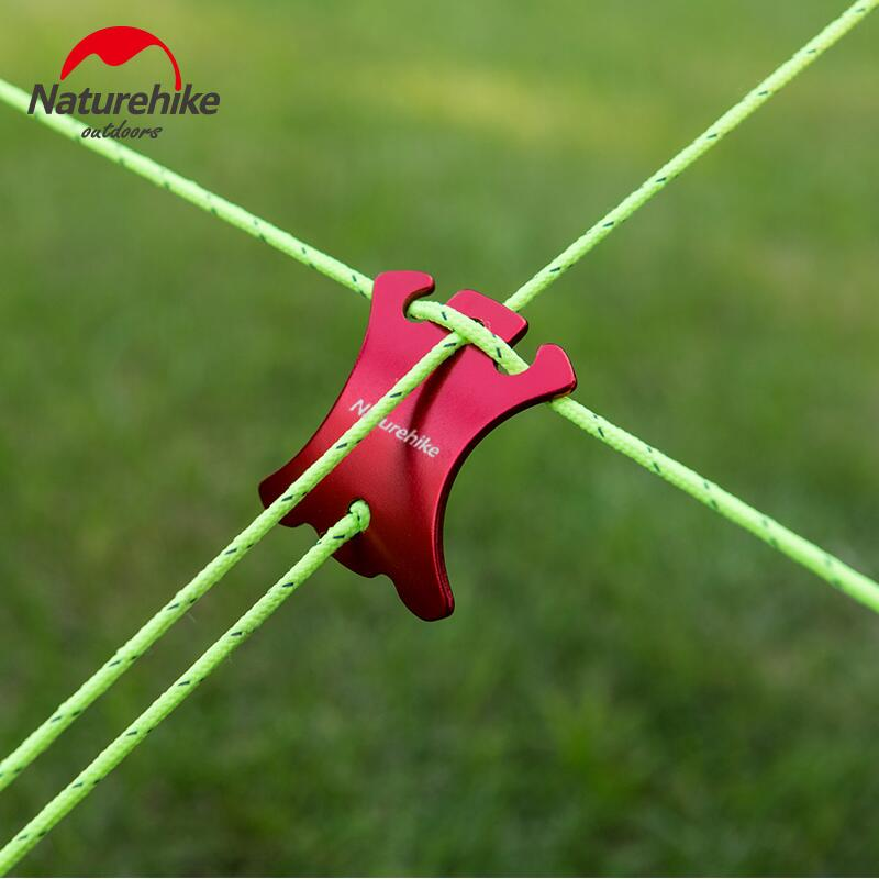 Naturehike 4pcs/pack Outdoor recreation tent accessories Rope buckle adjust Prevent slippery buckle camping equipment NH15A003-C