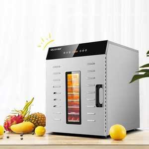 Image 2 - مجفف تجفيف الطعام آلة الفاكهة المجففة المنزلية والتجارية الذكية التي تعمل باللمس 8 layer قدرة البصرية الباب مضاءة