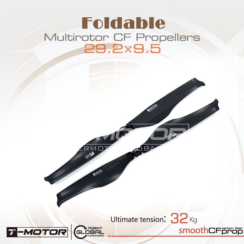T-motor Carbon Fiber Material Folding Propeller FA29.2×9.5-2PCS/PAIR For Plane RC Drones Helicopter