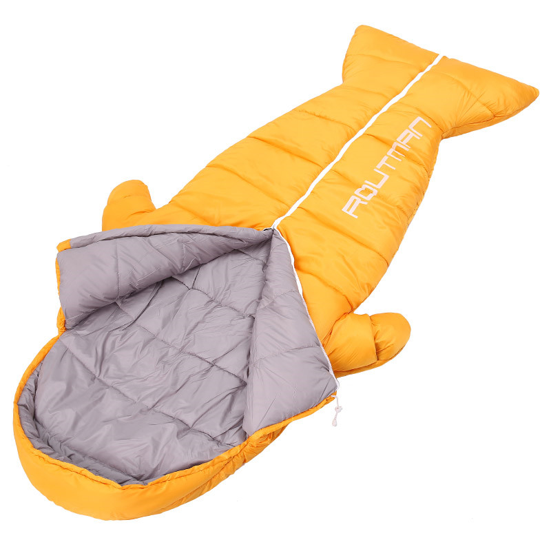 super popular 334f9 513ad US $43.9 25% OFF New design Penguin shape interesting Adult Mummy Sleeping  bag,Can reach out your hand 1kg 1.5kg hick warm Cotton Lunch quilt-in ...