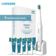 Langtian зарядки sonic Электрический Зубная щётка ультра sonic отбеливание зубов вибратор Зубная щетка стоматологическая гигиены полости рта Pinceis