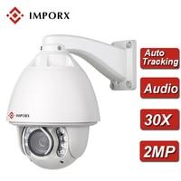 IMPORX 2MP 1080P IP PTZ Camera 30X Zoom Dome Camera Outdoor IR 150 Infrared IP66 H.264 Audio P2P CCTV Security IP Camera Onvif