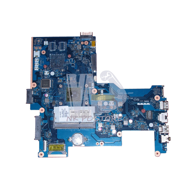 750633-001 750633-501 For HP 15-H 15-G series Laptop Motherboard ZS051 LA-A996P E1-2100 CPU DDR3 815248 501 main board for hp 15 ac 15 ac505tu sr29h laptop motherboard abq52 la c811p uma celeron n3050 cpu 1 6 ghz ddr3