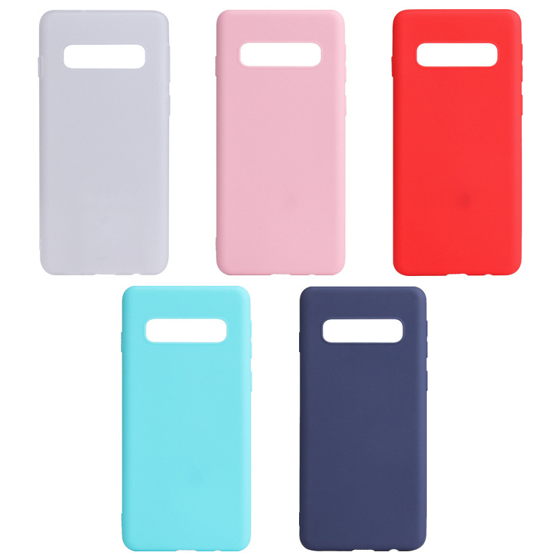 Color TPU Silicone Case For Samsung Galaxy S10 E S9 S8 Plus Note 8 9 Frosted Matte Case For Samsung S10 Plus S9 S8 Back Cover
