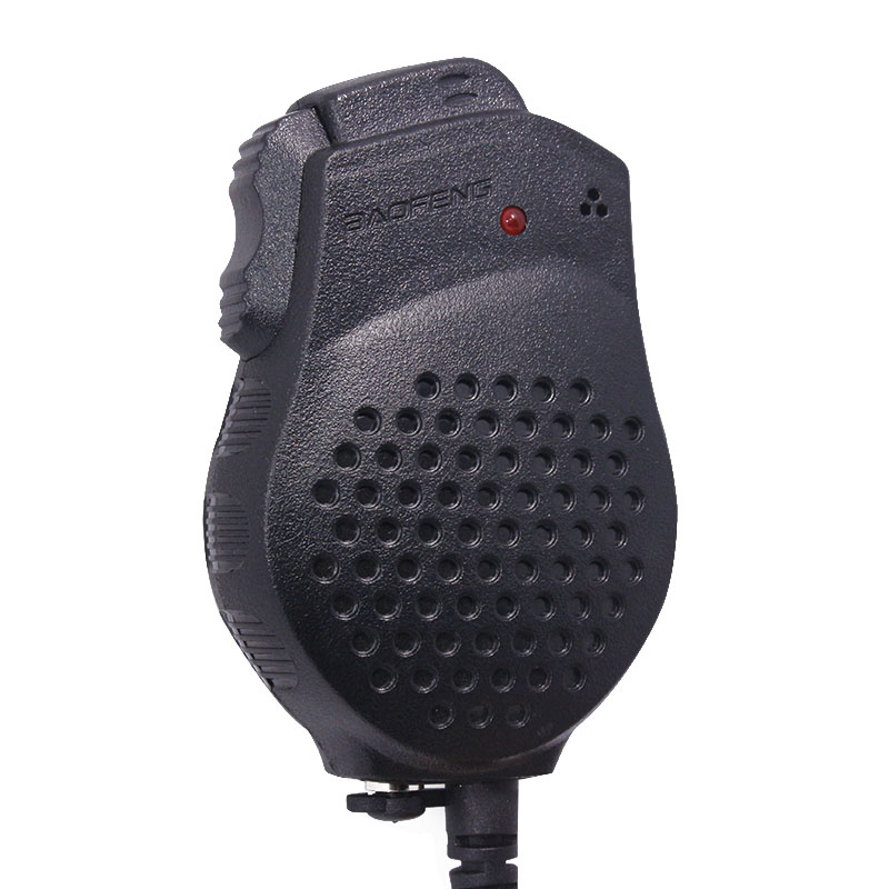 Baofeng UV-82 Double PTT Microphone Haut-Parleur Pour Baofeng Two Way Radio UV-82 UV-82HX UV-82HP GT-5TP Talkie Walkie Portable Radio