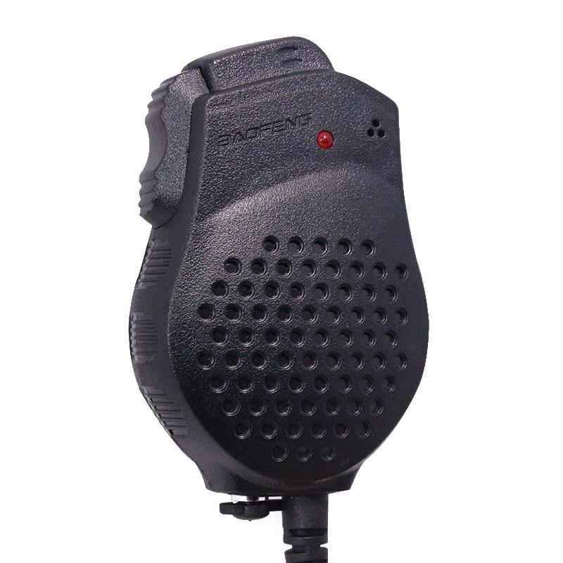 Baofeng UV-82 Double PTT Microphone Haut-Parleur Pour Baofeng Two Way Radio UV-82 UV-82HX UV-82HP GT-5TP Talkie Walkie Portable Radio