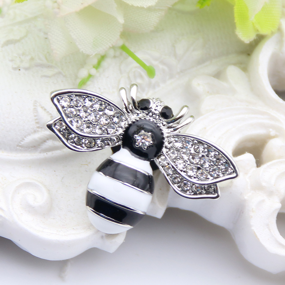 Fashion Cute Bee Brooch Women Gold or Silver Plating Brooches Lapel Hijab Scarf Pins Ladies Wedding Party Festival Jewelry Gift brooch pins pink flamingo brooches for women love cute gift enamel lapel pin broche broches 2018 fashion jewelry accessories