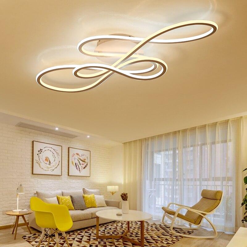 NEO Lueur Double Lueur moderne led plafonniers pour le salon chambre lamparas de techo gradation plafonniers lampe appareils