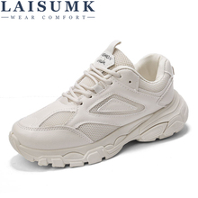 LAISUMK Woman Sneakers Comfortable Autumn New Female Casual Shoes College Student Leisure Ulzzang Dad
