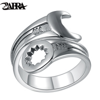 Skills Old Silversmith 925silver Ring Opening Thai Silver Ring Spanner Ring Personality Europe And The United