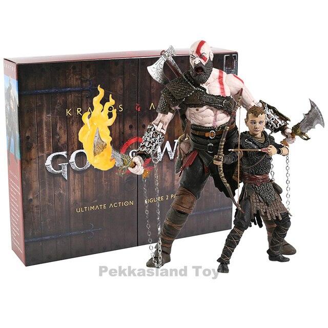NECA God of War Kratos & Atreu Final PVC Action Figure Collectible Modelo Toy