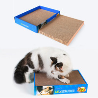 2pcs Cat Toys Scratching Post For Cat Scratcher Scratching Pad Durable Cardboard Lounge Grinding Claws Cat Toys Pet Supplies