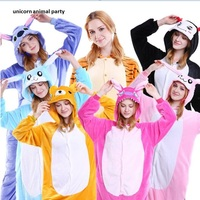 Kigurums Adult Pajamas Cosplay Costume Animal Onesie Sleepwear Stitch Pikachu Unicorn Sully Zebra Dinasour Panda skull stitch