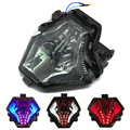LED Motorcycle Tail Light For Yamaha R3 R25 MT07 Brake Lights Turn Signals Integrated Taillight Smoke