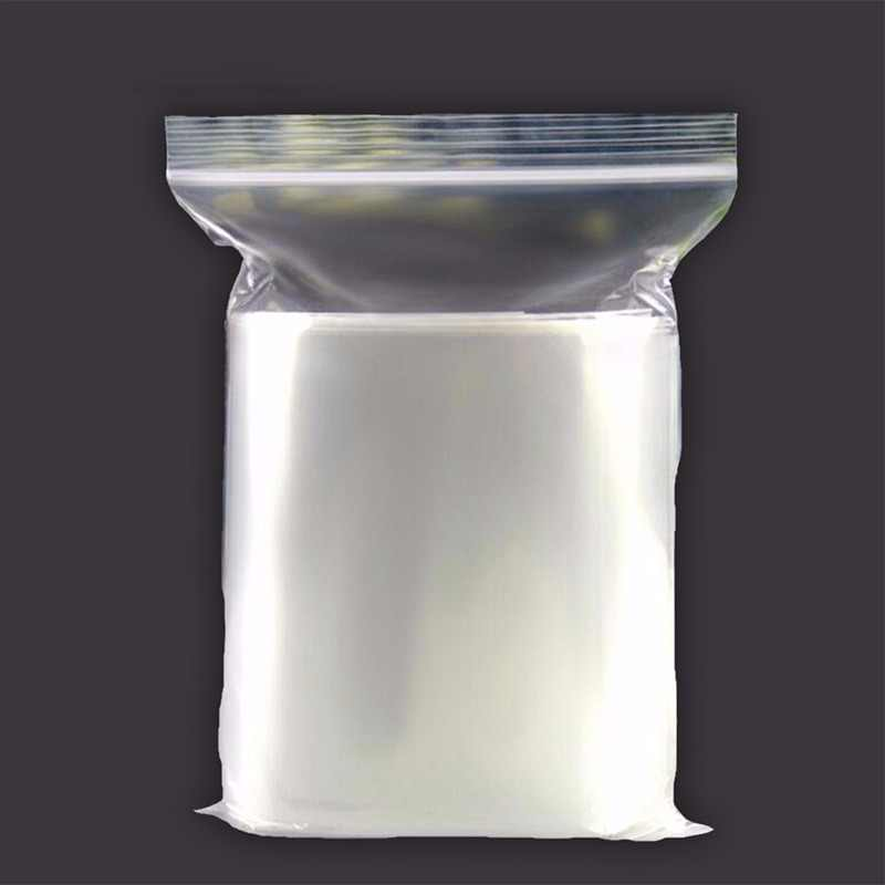 0.2mm PE Clear Self Sealing Zip Lock bags Plastic Packaging Pouches White Transparent zipper reclosable package bags