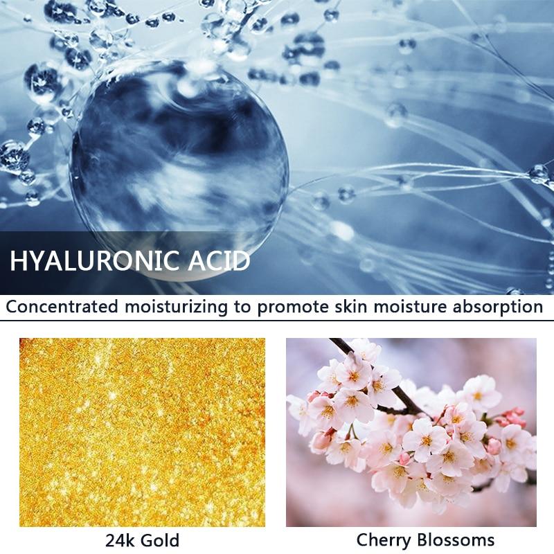 YOXIER 24K Gold+Cherry Blossoms Collagen Ampoule Skin Care Serum Anti-Aging Lighten Spots Moisturizing Whitening Firming 1PCS